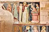 Frescos in the nave of San Zeno (San Zenone di Verona) Verona, Veneto, Italy