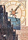 The tower clock at Castelveccio, Verona, Veneto, Italy