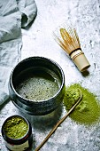 Chawan, Chasen and Chashaku matcha kit