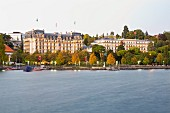 The Hotel Beau Rivage Palace Lausanne in Ouchy, Switzerland