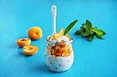 Aprikosen mit Joghurt und Minze