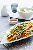 Vegetable salad with green papaya and limes (Asia)