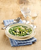 Minestra verde (green vegetable soup, Italy)