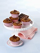 Carrot and chocolate muffins