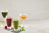 Various different smoothies
