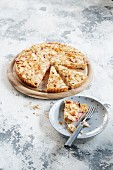 Rhubarb rice cake
