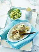 Bread dumplings with chicory