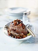 Lamb with aubergines and sheep's yoghurt
