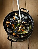 Mussels in broth (Asia)