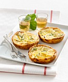 Ricotta tartlets with lemon and rosemary