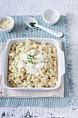 Cheese and herb risotto with Parmesan