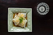 Kaiseki menu: ika, gently grilled blowfish