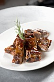 Glazed chops with rosemary