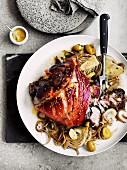 Overnight pork shoulder with fennel