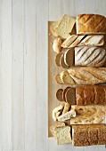Sandwich bread, Baguette, Sourdough, Ciabatta, Rye, Turkish & Wholegrain bread