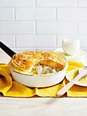 Creamy fish pan pie