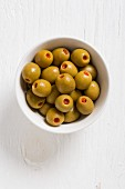 Spanish olives filled with peppers