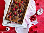 Chocolate raspberry mud brownies