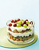 Cheesecake trifle with summer fruits