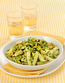 Penne with courgette