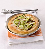 Pizza with puntarelle and anchovies