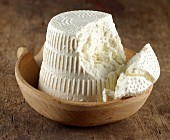 Ricotta poina (smoked ricotta from Trentino, Italy)