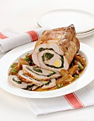 Pork roulade filled with herbs and eggs