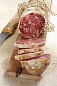 Salame piacentino (salami from Emilia Romagna, Italy)