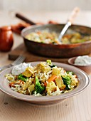 Quick chicken and vegetable pilau