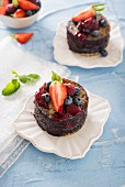 Summer pudding with fresh berries