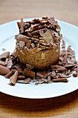 Chocolate mousse with grated chocolate
