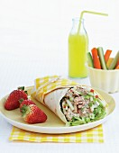 Tuna fish and apple wrap