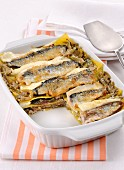 Lasagne con sarde e carciofi (pasta bake with sardines and artichokes, Italy)