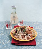 Rice noodle salad with chicken (Asia)