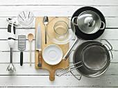 Utensils for making spaghetti dishes