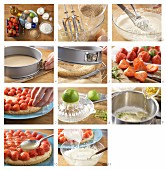 Erdbeertorte mit Limettenguss zubereiten