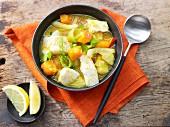 Cod and pumpkin soup