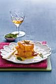 Caramelised oranges with orange liqueur