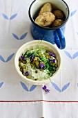 Herb quark and caraway potatoes