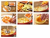 Möhrenbrei mit Lachs und Orange zubereiten
