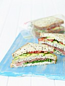 Double-decker Sandwiches for Lunch