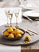 Hot Olive Cheese Bites