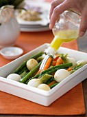 Marinating Baby Vegetables with Lemon