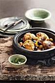 Chicken tagine with green and black olives