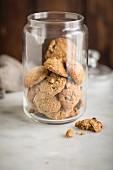 Oatmeal cookies in a jar