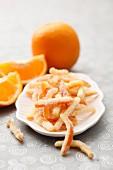 Sugared orange zest