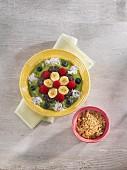 Avocado-Pfirsich-Grüntee Smoothie Bowl