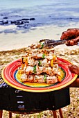 Grilled seabream kebabs