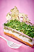 Vegetable terrine with cream cheese