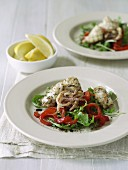 Salt & Pepper Calamari with Roasted Capsicum Salad